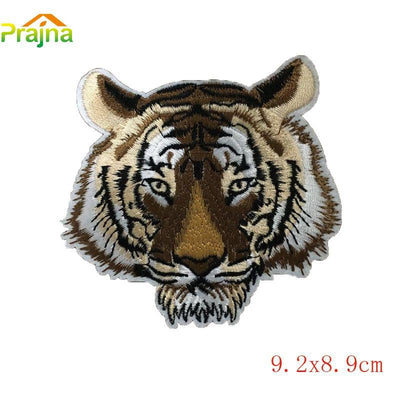 1PCS Punk Skull Military Patch Rock Tiger Flag Patch Applique Badge Iron On Embroidered Biker Patches For Clothes Stickers Jeans  UpCube- upcube