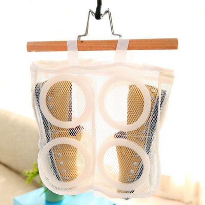 1 Pcs Nylon Laundry Bag Shoes Support Storage Organizer Mesh Washing Dry Sneaker Tennis Boots Baskets Household Cleaning Tools - Dailytechstudios