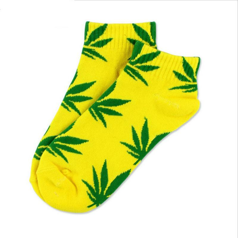 20 Colors Best Cotton Germany's Harajuku Skateboard Hip Hop Maple Leaf Socks Women's Street Boat Sock for Female