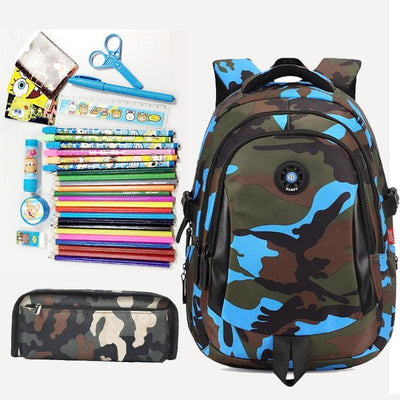 f79b3acc9dd Fashion Camouflage Kid Backpack Bag School Bags Travel Backpack Bags For Cool  Boy And Girl Drop