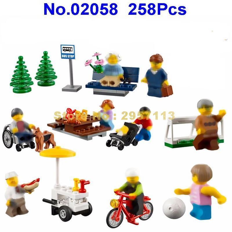 02058 258pcs City Park Amusement Lepin Building Block Compatible 60134 Brick Toy - Dailytechstudios