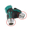 1 Pcs Y Connector Female Quick Connector Drip Irrigation System Adapter two way Valve Garden Irrigation G3 / 4'' Quick Coupling - Dailytechstudios