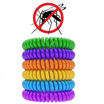 1000pcs Stretchable Elastic Coil Spiral Hand Wrist Band Telephone Ring Chain Anti-mosquito Bracelet Strong Repellent ZA0991  UpCube- upcube