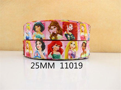(5yds per roll) 10Yds 1 '' Cartoon pattern cute girl ribbon Grosgrain ribbon DIY handmade materials wedding gift wrap 10Yc1048 - Dailytechstudios