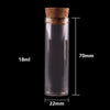 100pcs 18ml size 22*70mm Small Test Tube with Cork Stopper Bottles Spice Container Jars Vials DIY Craft  UpCube- upcube