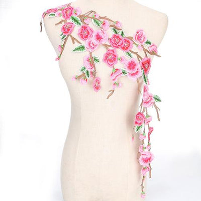 1PC 80cm Embroidered Floral Lace Neckline Neck Collar Trim Clothes Sewing Applique Embroidery edge NL071  UpCube- upcube
