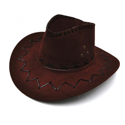 1 Pcs Comfortable Artificial Suede Cowboy Hat Party Costumes Sun Hat With 4 Colors For Choice - Dailytechstudios