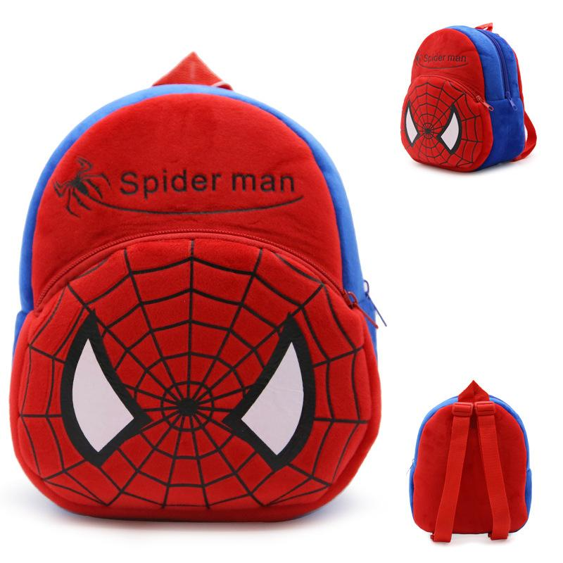 1-3Y Cartoon Kindergarten Schoolbag Plush Children Backpack 3D Kids Backpack Spider Man Children School Bags Girl Boys Backpacks