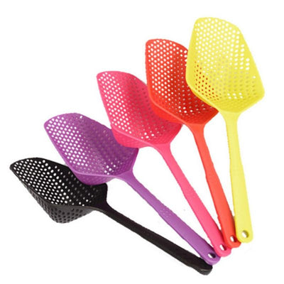 1 Piece Scoop Colander Nylon Spoon Strainers 5 Colors Non-toxic Durable Nylon Drain Kitchen Accessories Strainers Kitchen Tools - Dailytechstudios