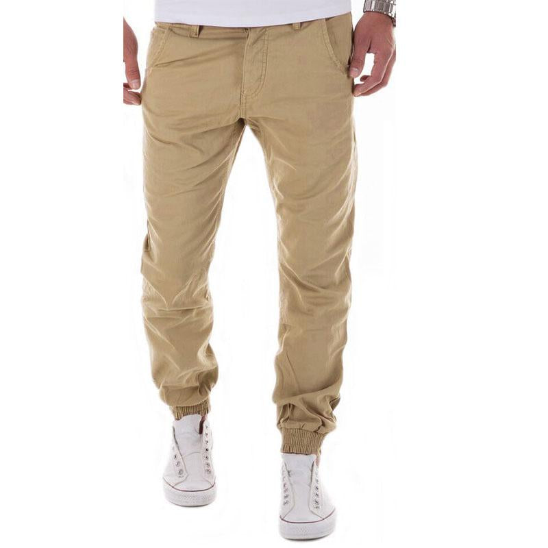 2017 autumn winter Men pants 100% cotton men workout pants solid color mens joggers men pants casual trousers