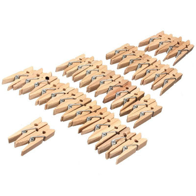 100pcs Wholesale Small Size 3.5*0.7cm Mini Natural Wooden Clips For Photo Clips Clothespin Craft Decoration Clips Pegs  UpCube- upcube
