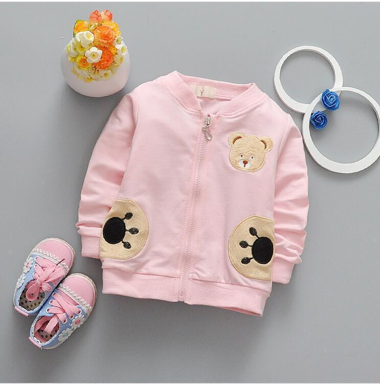 0-2 year old male and female baby fashion new cotton long-sleeved jacket + free gift - Dailytechstudios