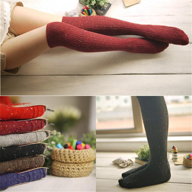 1pair Women Fashion socks Autumn winter long Knee Thick socks Women's Cotton Thigh High Sexy Socks Winter Boot Socks Wholesale