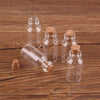 100pcs 18*40*7mm 5ml Mini Glass Wishing Bottles Tiny Jars Vials With Cork Stopper pendant crafts  UpCube- upcube