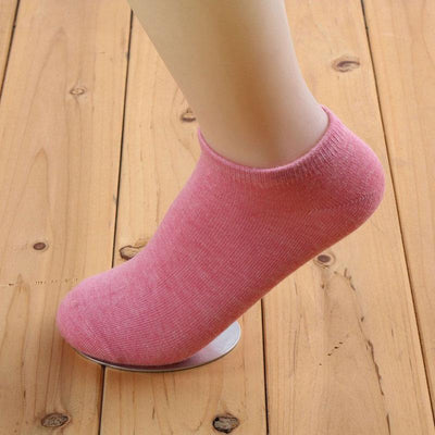 1Pair Women Socks Cute Candy Color Ankle Socks Woman Slippers Boat Socks  UpCube- upcube