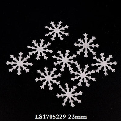 100pcs 30MM White Mini Cute Non-woven Felt Snowflake Patch Mini Felt Snowflake Applique For Kids Accessories  UpCube- upcube