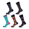 2018 Classic Happy Socks Brand Hit Color European American Personality Women Men Funny Socks Jacquard Short Cotton Male Socks