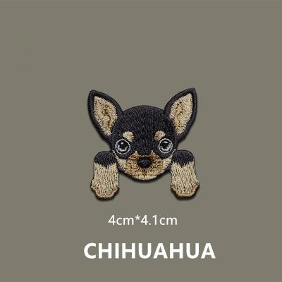 1 Piece Cute Chihuahua Shiba Dog patch baby's clothing patches backpack decoration small applique small iron on patch - Dailytechstudios