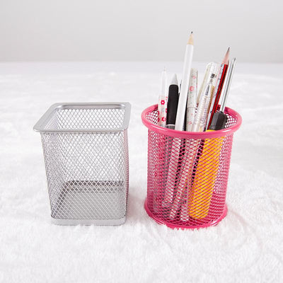 1Pcs Pen Holder Container Metal Hollow Design Fashion Desktop Pen Pencil Pot Holder Storage Organizer Women Makeup Brush Holder  UpCube- upcube