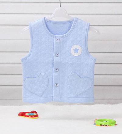 0-2 Years-Old Baby Boy Girl Waistcoat Jacket Vest Outerwear in Spring Autumn in Jacquard - Dailytechstudios