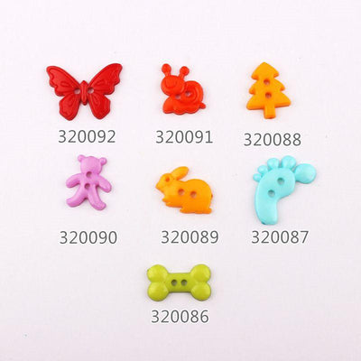 100pcs Mixed Color Mulity Plastic Button Baby Sewing Button Decoration / Sewing / Craft / Scrapbook Accessories  UpCube- upcube