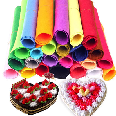 1Pcs Mix Color 50x40cm Non-woven Felt Fabric Polyester Cloth Felts DIY Kindergarten supplies for Sewing Dolls Crafts accessories  UpCube- upcube