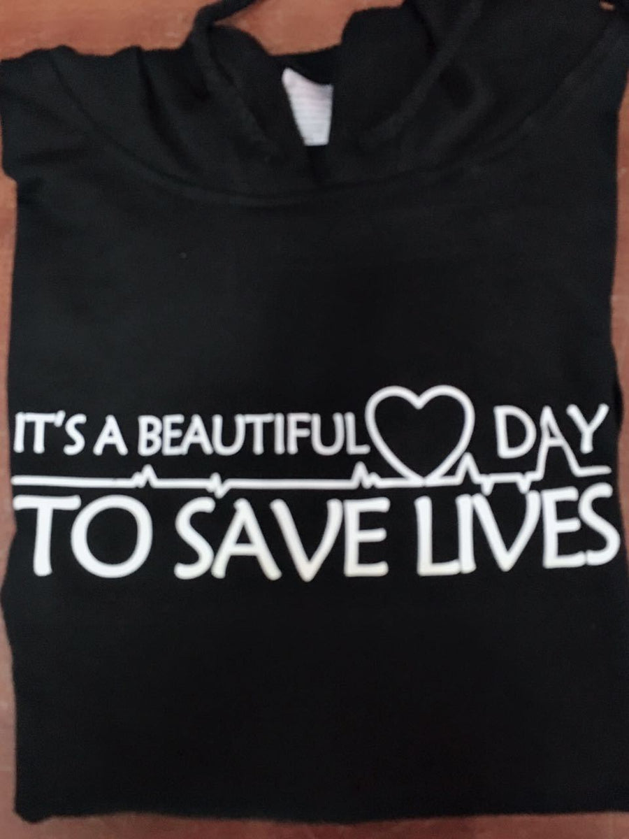 "it""s a beautiful day to save lives quote girls fashion tumblr hoodie long sleeve high quality pink hoodie girls"