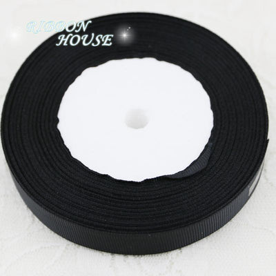 "(25 yards/lot) 5/8"" (15mm) Black Grosgrain Ribbon Webbing Decoration Gift Ribbons - Dailytechstudios"