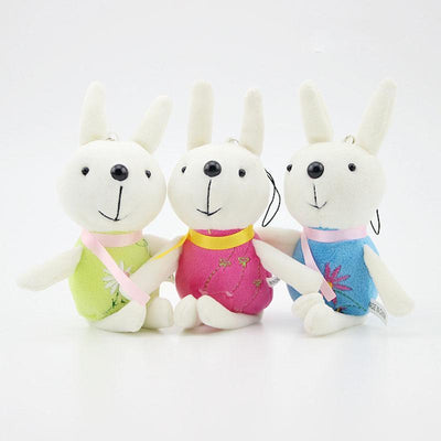 (3 pieces/lot) cute and pretty a variety of color smile rabbit plush toys Wedding decorations birthday present - Dailytechstudios