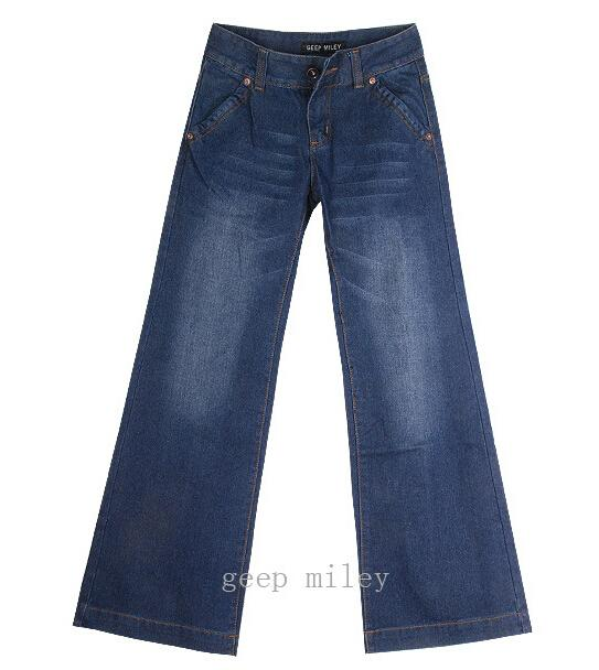 2017 vintage bell-bottom mid waist slim butt-lifting boot cut wide leg flare women's jeans