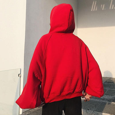 2017 Autumn New Streetwear Cashmere Hooded Sweatshirt Harajuku BF Thick Loose Lantern Sleeve Hoodie Hoodies Plus Size Pullover