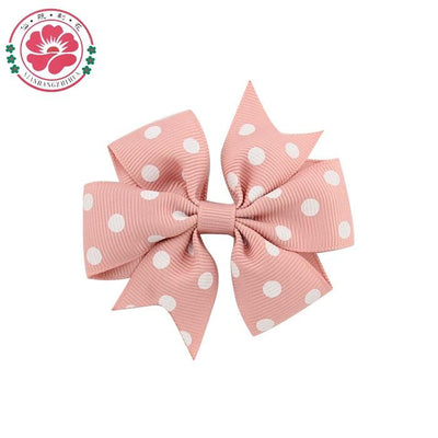 ( 40 pcs/lot) 3 inch Polka Dot Grosgrain Ribbon Boutique Bows hair Bow With Clips Hairpins Hair Ornaments 592 - Dailytechstudios