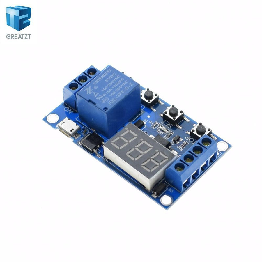 1 Channel 5V Relay Module Time Delay Relay Module Trigger OFF / ON Switch Timing Cycle 999 minutes for Arduino Relay Board Rele - Dailytechstudios