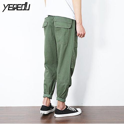 #2817 Cargo pants military style Loose Fashion Harem Mens lightweight summer pants Ankle-length Cotton Sarouel homme Joggers 5XL - Dailytechstudios