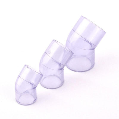 1pcs NuoNuoWell Transparent Plastic UPVC 90/45 Degree Equal Elbow Hose Connector for Garden Irrigation Watering Pipe/Tube Parts  UpCube- upcube