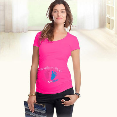 """Peek a boo"" design Maternity Shirt specialized for pregnant women plus size European big size XXL - Dailytechstudios"
