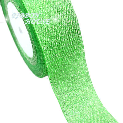 (25yards/roll) 40mm Metallic Glitter Ribbon Colorful gift package ribbons wholesale - Dailytechstudios