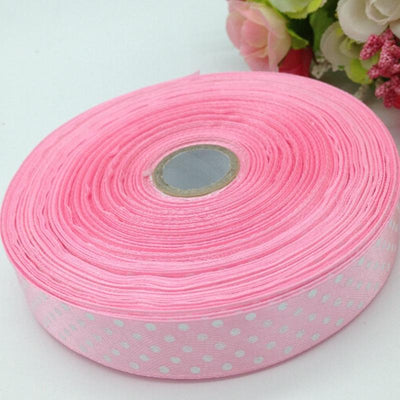 1 roll (50yards) 18mm width printed dots satin ribbon wedding party decoration crafts making ribbon bows DIY accessories A933 - Dailytechstudios
