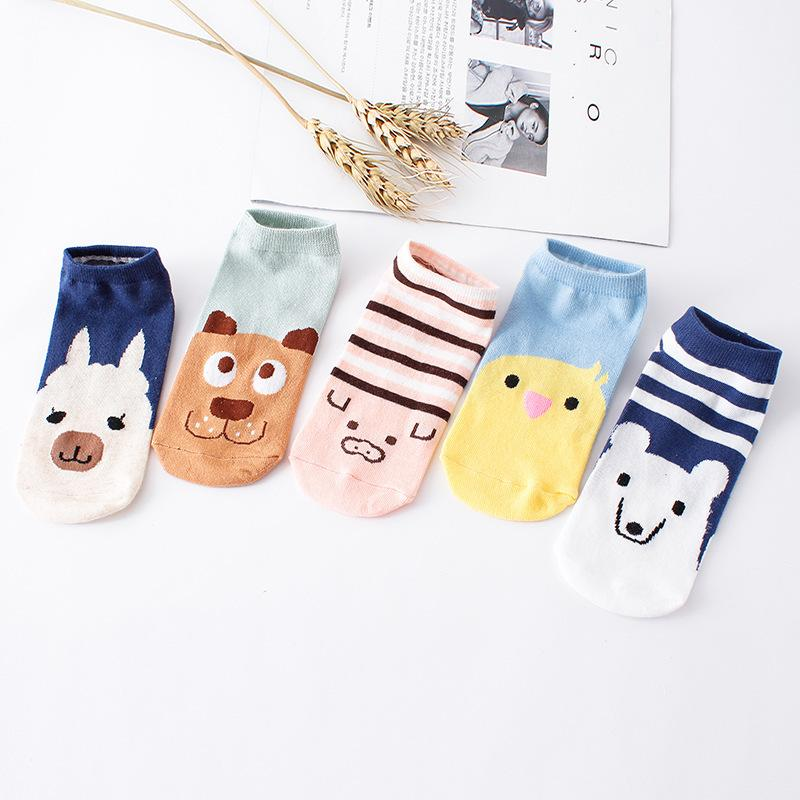 % 1pair 3D Cartoon animal dog Socks Women men Socks Fashion Boat Low Cut Style Woman Ankle Socks Casual Female girl boy gift - Dailytechstudios