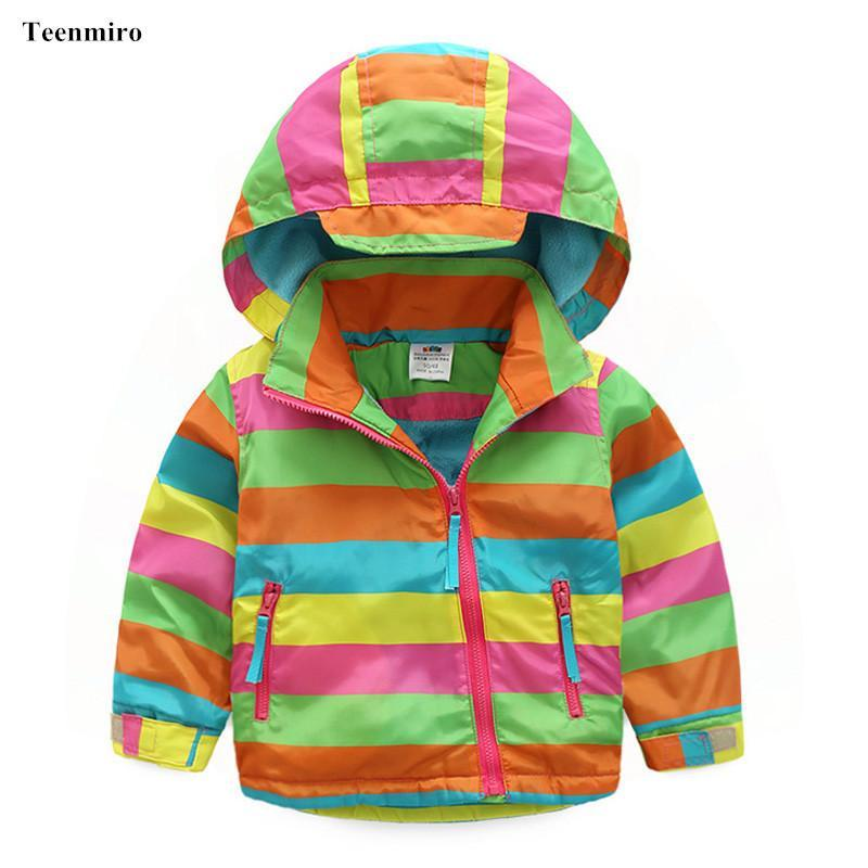 84bcc62c416c Children Fleece Jackets For Boys Girls Coat Striped Baby Clothes ...