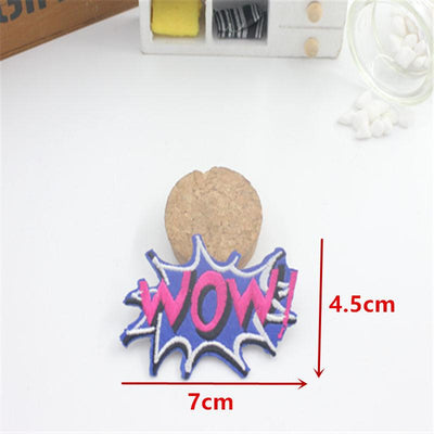 1 PCS POW LOVE Embroidered Iron on Patches for Clothing DIY Apparel Accessories Garment Stickers Appliques Badge - Dailytechstudios
