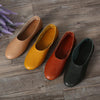 (35-42)Woman Shoes Flat Genuine Leather Slip on Ballet Flats Anti-slip Ladies Flat Shoes Female Footwear large size(1605) - Dailytechstudios