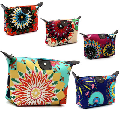 Blusas 2017 Fashion Women Travel Organizer Makeup Bag Clutch Casual 3D Printing Portable Vintage Floral Printed Cosmetic Bags  dailytechstudios- upcube