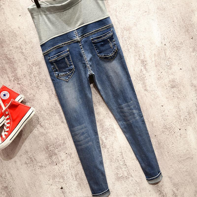0-profit !2017 Maternity clothing maternity jeans trousers skinny pants spring and Summer Ripped fashion and leisure