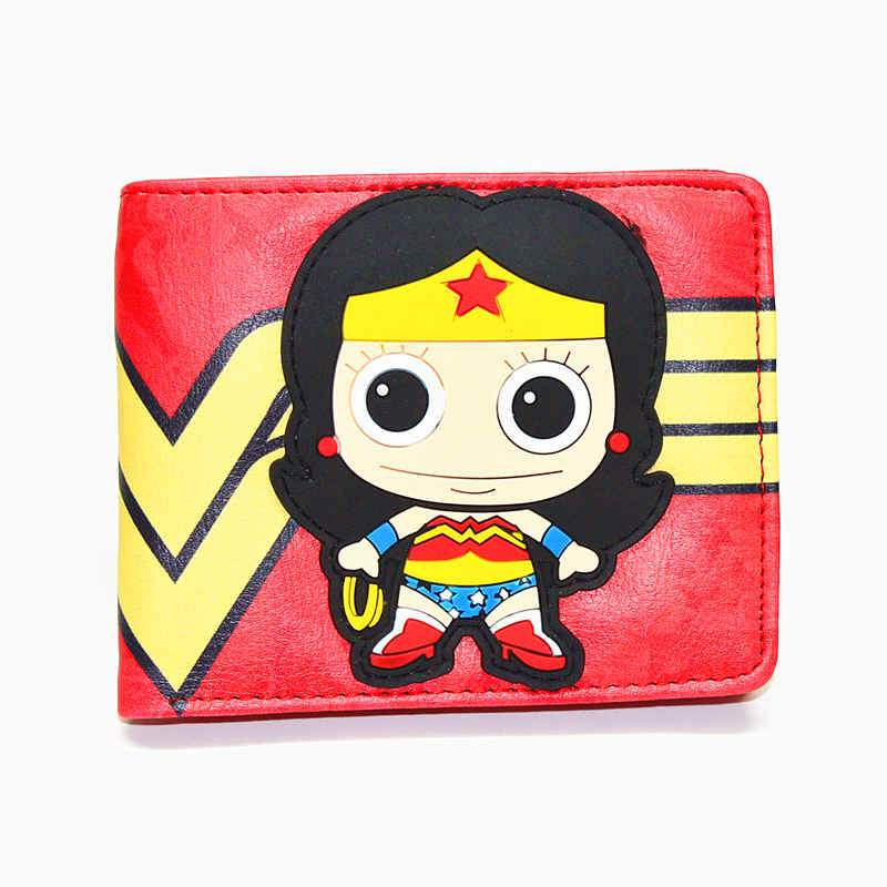 * Zipper bag * free Q version of the cartoon wallet Wonder Woman Harley Quinn variety of short money wallet men and women models