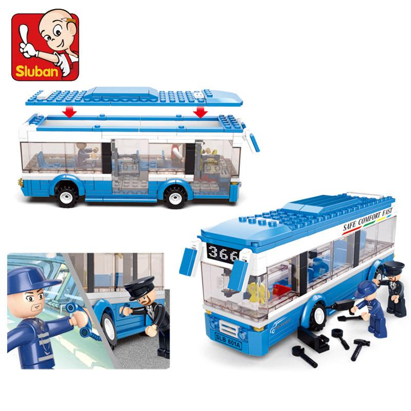 0330 City Bus Building Blocks bricks Educational DIY Bricks boys Toys birthdays compatible legoes gift kid set city bus car - Dailytechstudios
