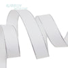 (10 yards/lot) White Silver Edge printed grosgrain ribbon gift wedding ribbons - Dailytechstudios