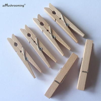 (50 Pieces/Lot) Large Wooden Clothespins 72mm Regular Size Pegs Vintage Laundry Display Photo Wall Clips - Dailytechstudios