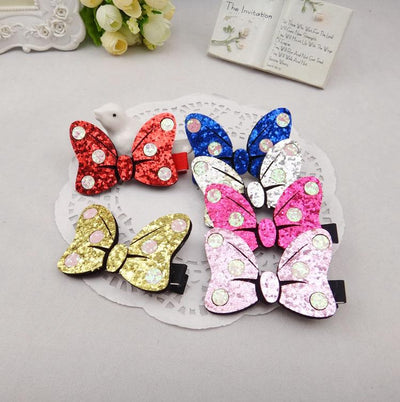 1 PCS New Fashion Wave Point Bow Hairpins Girls Hair Accessories Children Headwear Baby Hair Clips Headdress - Dailytechstudios