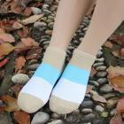1Pairs Women Comfortable Stripe Cotton Sock Slippers Short Ankle Socks Y90130
